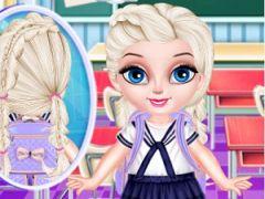 Baby Elsa School Hairstyles