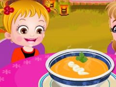 Baby Hazel Pumpkin Soup