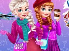 Frozen Sisters Winter Escape