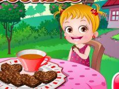 No Bake Cookies with Baby Hazel