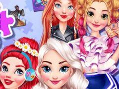 Princesses Puzzle Portrait