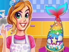Rainbow Mermaid Cakes