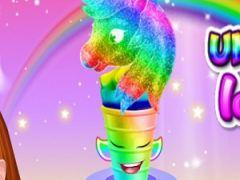 Unicorn Rainbow Ice Cream Cone Cooking
